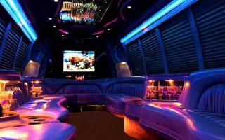 18 passenger party bus rental Hollywood