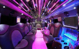 Cadillac Escalade Delray Beach limo interior