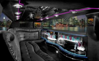 Chrysler 300 Delray Beach limo interior