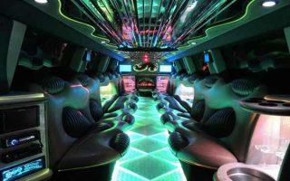 Hummer limo Hollywood interior