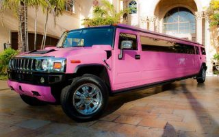 pink hummer limo service Hollywood